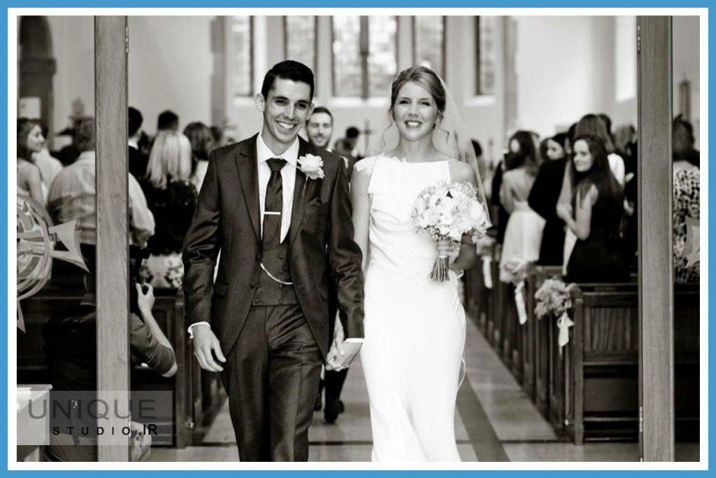 عکاسی عروسی مونوکروم