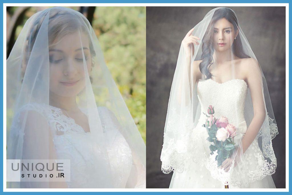 ژست عروسی با تور