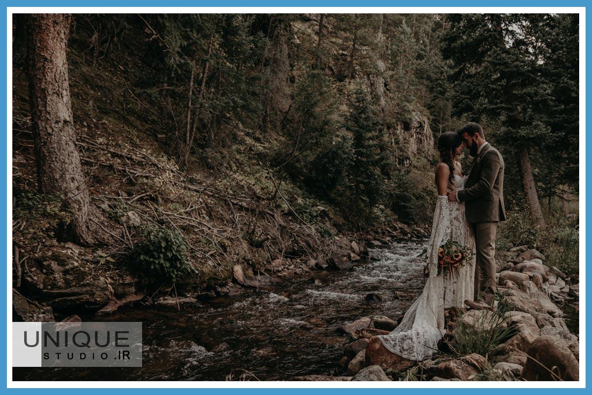 فیلمبرداری عروس در فضای باز